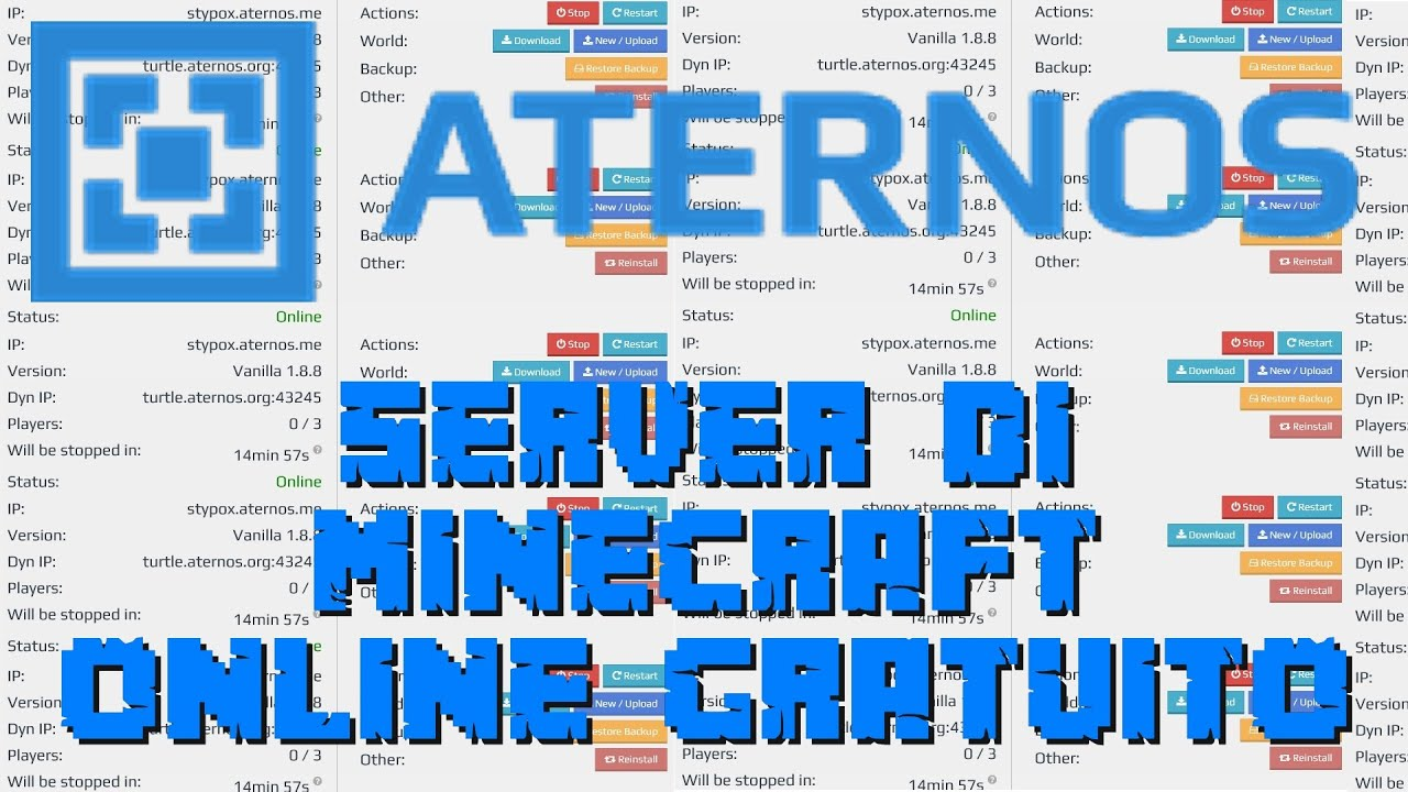 Aternos - COME CREARE UN SERVER DI MINECRAFT ONLINE ...