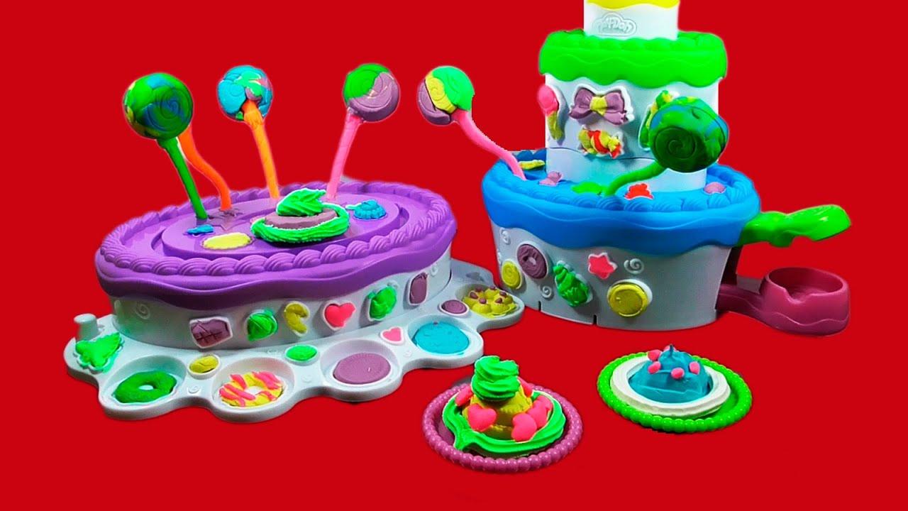 Play Doh Montana de Pasteles -Play Doh Cake Mountain Set ...