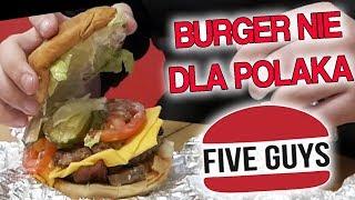 FIVE GUYS - BURGER NIE DLA POLAKA - ULANY TEST #Diabeuu #Dobrodziej