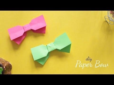How to make a Paper Bow | Bow Tie | Easy origami