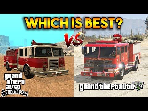 GTA 5 VS GTA SAN ANDREAS (BEST FIRE DEPARTMENT?) thumbnail