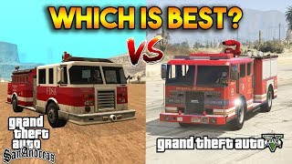 GTA 5 VS GTA SAN ANDREAS (BEST FIRE DEPARTMENT?)