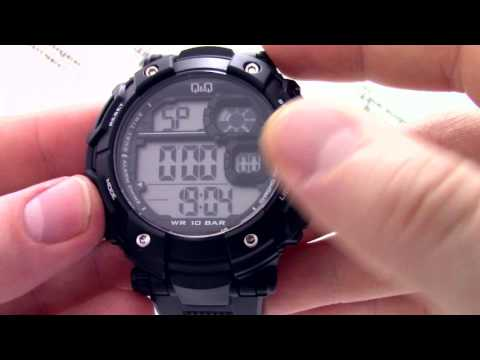 Часы Q&Q M150-003 [M150 J003] - Инструкция, как настроить от PresidentWatches.Ru