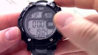 Годинник Q&Q M150-003 [M150 J003] - Інструкція, як налаштувати від PresidentWatches.Ru