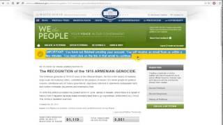 Как проходить регистрацию на сайте petitions whitehouse gov(, 2014-05-10T12:24:04.000Z)