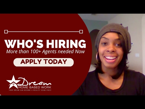 4 Hot Work from Home Jobs Open Now - 100+ Agents Needed