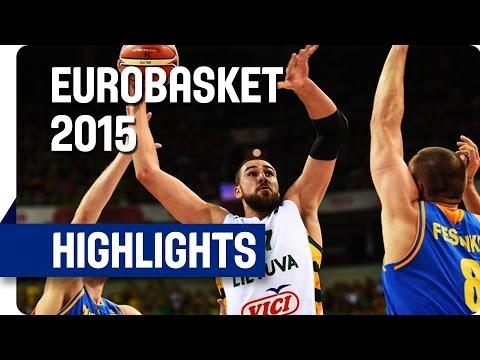 Lithuania v Ukraine - Group D - Game Highlights - EuroBasket 2015