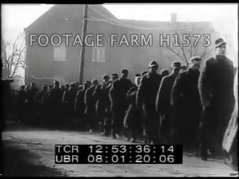 WW2 Amphibious Pontoons, Rhine River  H1573-04   Footage Farm