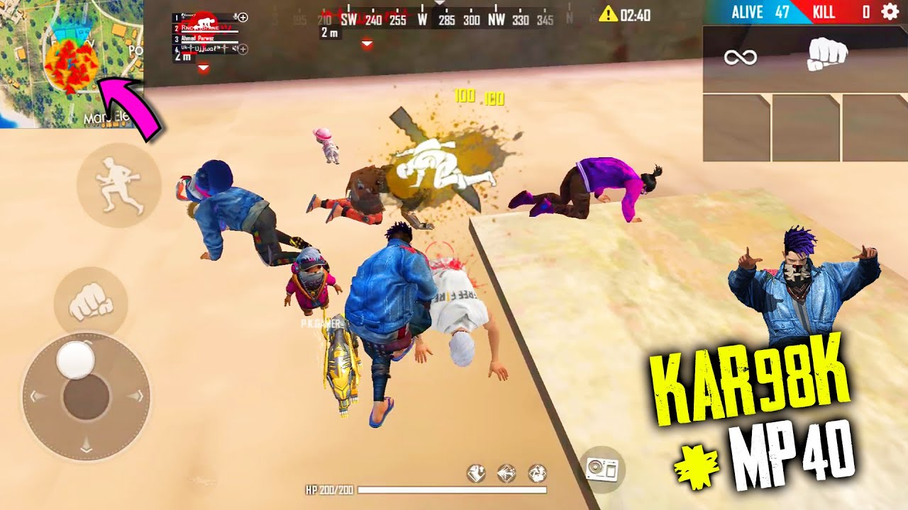 Amazing Op Gameplay With Kar98 Mp40 King Of Factory Fist Fight Garena Free Fire P K Gamers Youtube