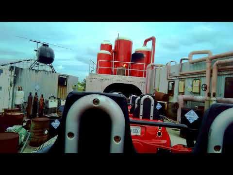 Backlot Stunt Roller Coaster Kings Island POV 60fps