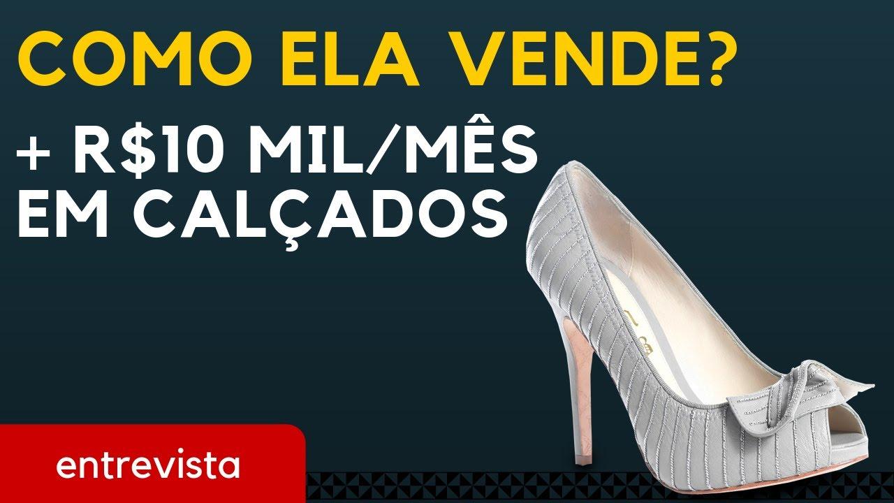 143b51852 Como ela fatura mais de R$10 mil vendendo calçados | Trabalhar em Casa.  Internet e Negócios