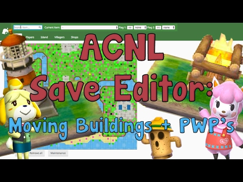 AC:NL Save Editor: How to Move Buildings + Public Works Projects
