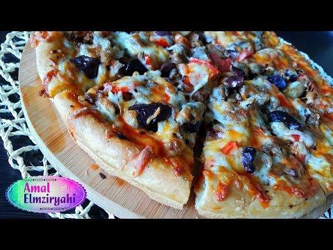 صورة  طريقة عمل البيتزا طريقة عمل البيتزا مثل المطاعم طريقة عمل البيتزا من يوتيوب