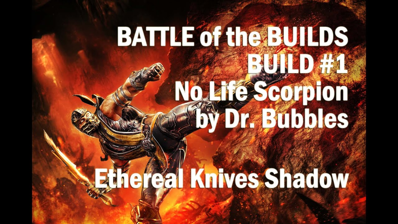 Path Of Exile Shadow Ethereal Knives Low Life Build  Battle Of The Builds  #1