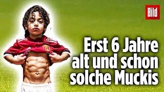 Arat (6) zeigt seine Muskeln: Der Mini-Maradona mit dem Sixpack