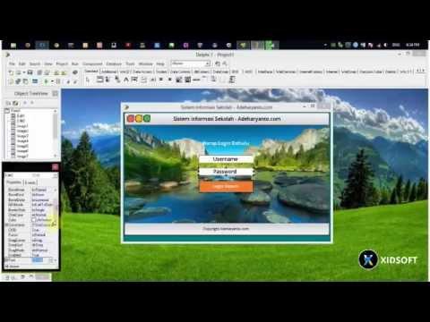 Delphi 7 - Membuat User Interface Menu Utama Sistem Informasi