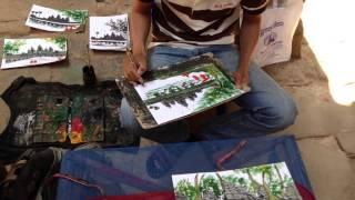 Angkor Watt Art Painting - Siem Reap