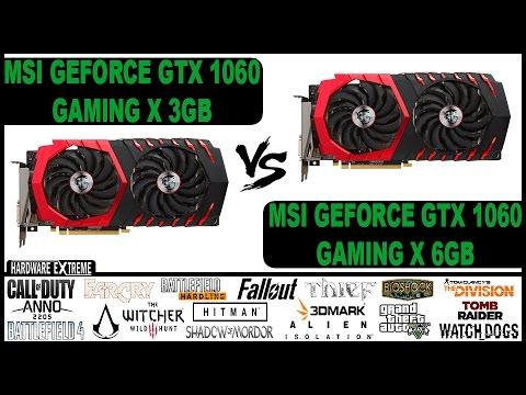 Nvidia GeForce GTX 1060 3GB VS Nvidia GeForce GTX 1060 6GB - Full HD e 4K  (Desempenho em Jogos)