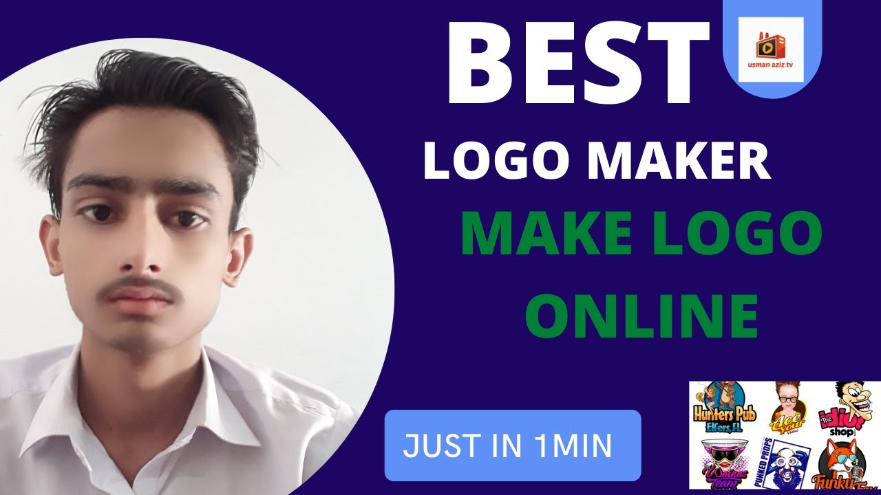 Download make logo online   easy way make youtube logo     usman aziz tv    youtube channel logo maker