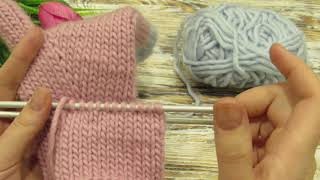 Как связать анатомический палец у варежки