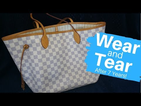 Wear and Tear: Louis Vuitton Neverfull After 7 Years! Damier Azur MM