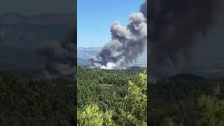 Το ξεκίνημα της μεγάλης πυρκαγιάς στην Εύβοια
