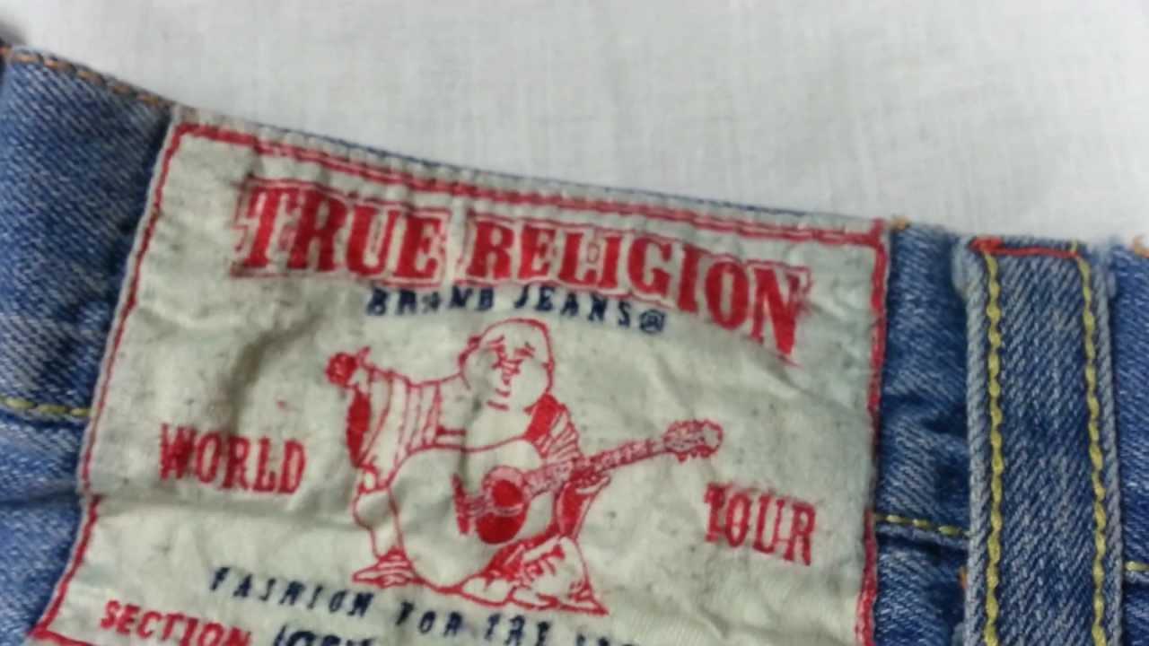 8f2cb94e5 REAL VS. FAKE - comparison TRUE RELIGION Jeans - YouTube