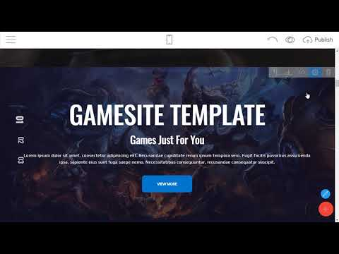 Mobirise HTML Website Builder - GamingAMP!