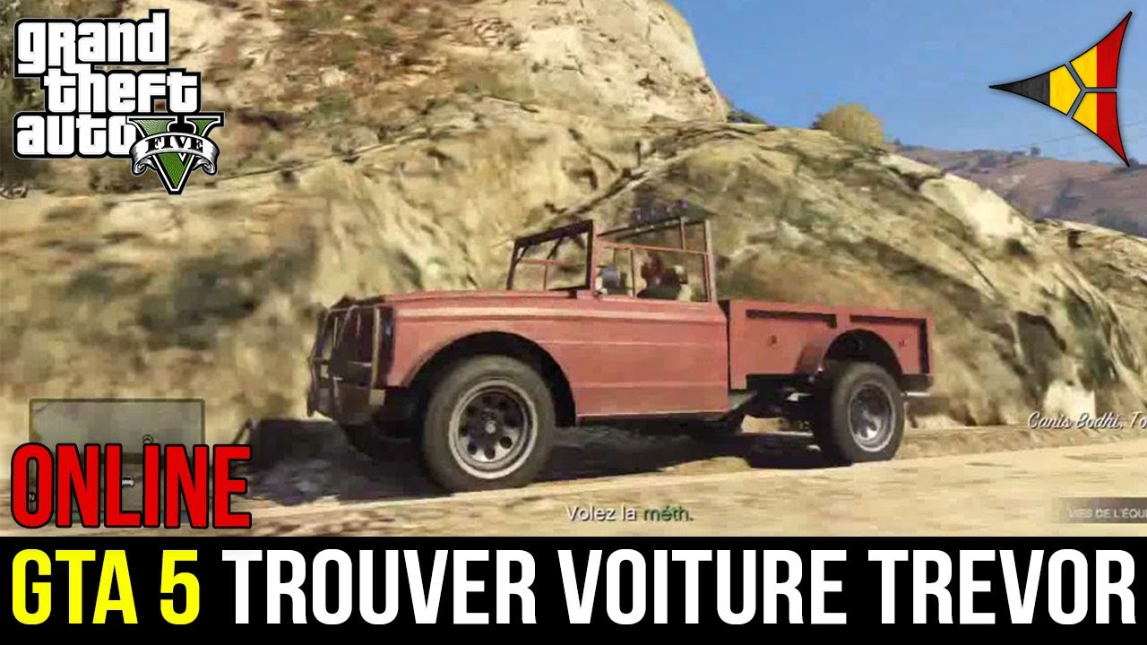 gta 5 online trouver la voiture de trevor localisation grand theft auto 5 fps belgium. Black Bedroom Furniture Sets. Home Design Ideas