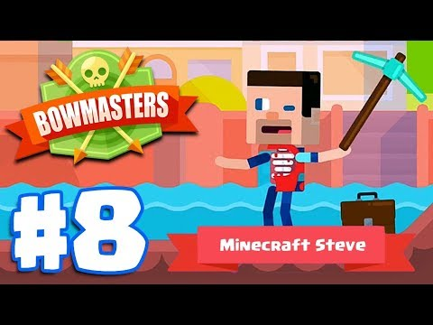 MINECRAFT DIGGER STEVE | Bowmasters - Multiplayer Game Part 8 | All Characters Unlocked