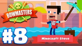 MINECRAFT DIGGER STEVE   Bowmasters - Multiplayer Game Part 8   All Characters Unlocked