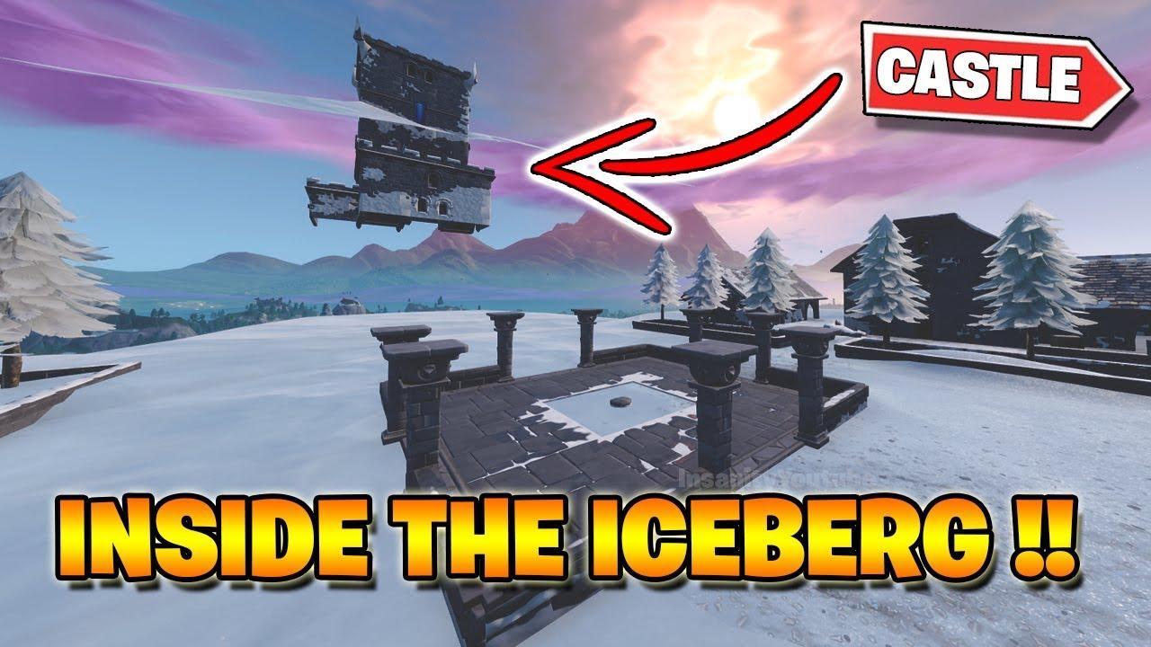 New Inside The Iceberg Showing The Castle Fortnite Youtube