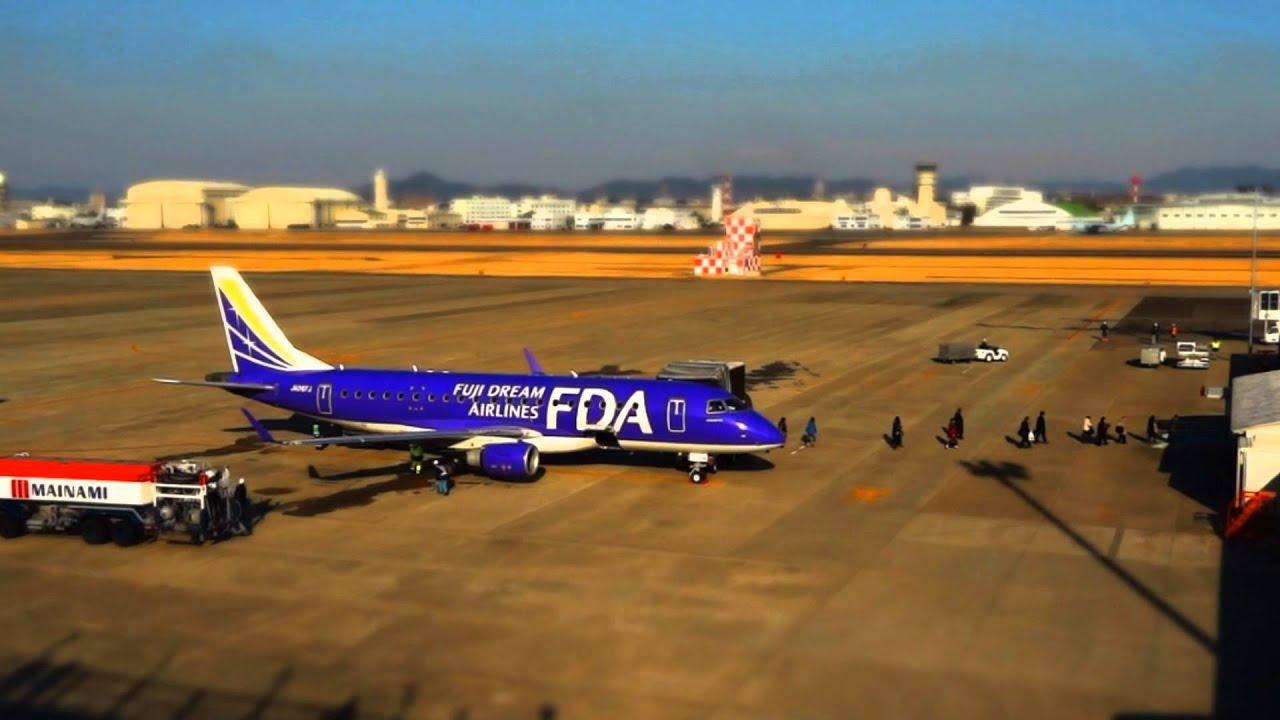 ミニチュア風 県営名古屋空港 A little airport Time lapse - YouTube