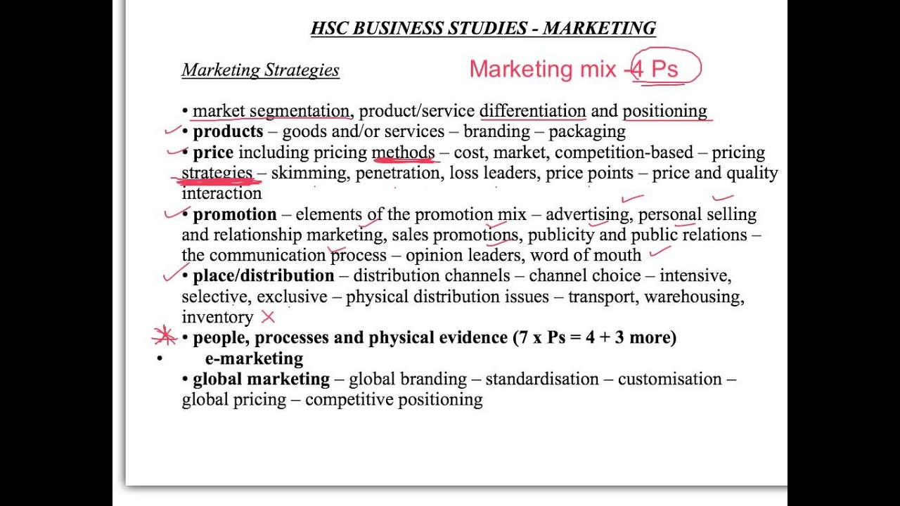 business studies marketing mix essay