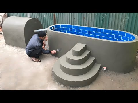 Amazing! Technology for building heated swimming pool - construction idea