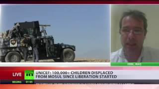 UNICEF 'running against time' struggling to cope with numbers as Mosul exodus continues
