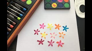 How To Paint Flowers For Beginners | Painting Easy Simple Flowers | PAINTING FLOWERS TUTORIAL