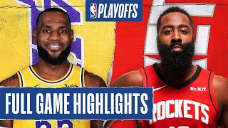 LAKERS at ROCKETS | FULL GAME HIGHLIGHTS | September 10, 2020