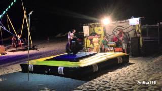 Девушка упала с бешеного Быка Железный Порт Украина(Аттракцион