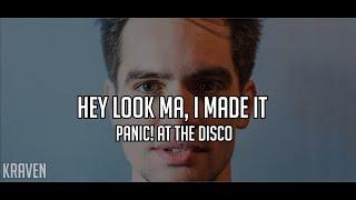 Panic! At The Disco: Hey Look Ma, I Made It (Lyrics + sub español)