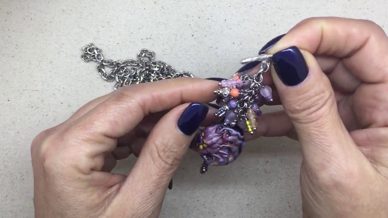 Interchangeable beaded pendant video by bead dangle design youtube interchangeable beaded pendant video by bead dangle design aloadofball Gallery