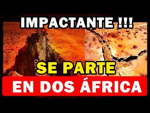 ¡Imágenes Impactantes! África se está separando en dos y formará nuevo océano