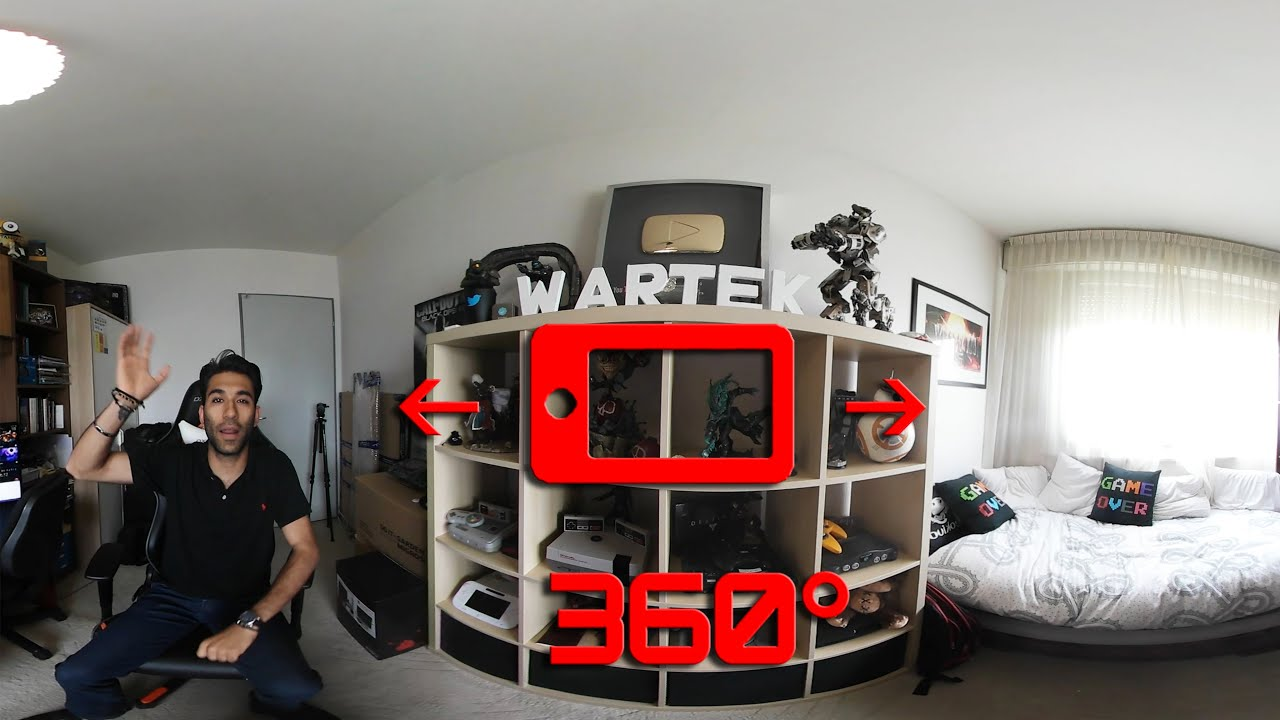 Setup gaming 360 funnydog tv for Chambre gaming