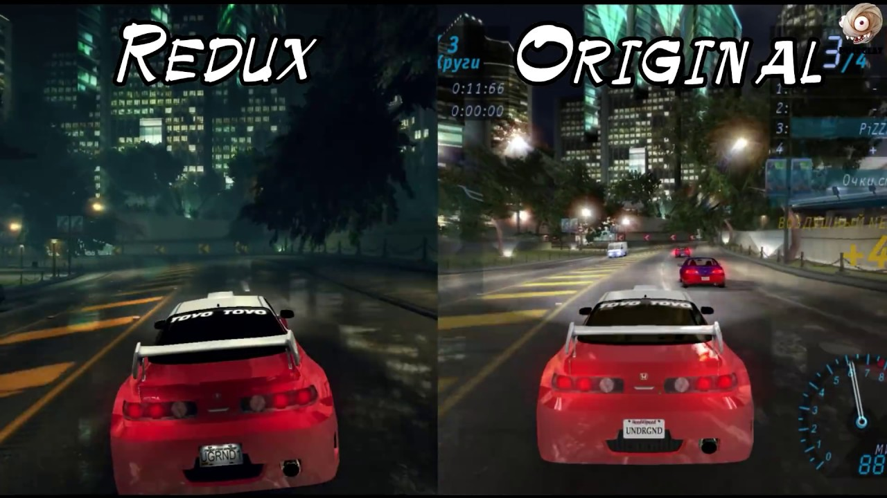 Need For Speed Underground Redux Mod 2017 Обзор YouTube