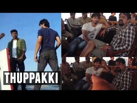Thuppakki Movie Climax Scene Shooting Video | Vijay | Vidyut Jamwal | A.R.Murugadoss