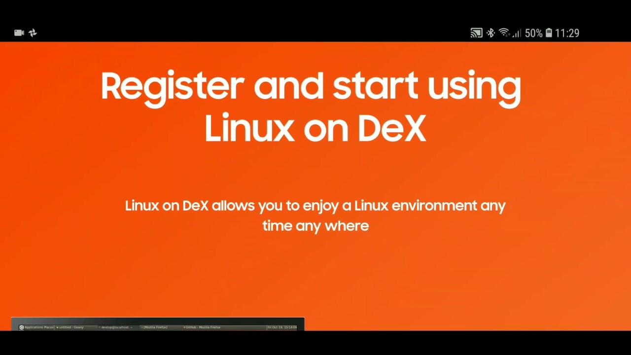 Linux on Dex primeiras impressões