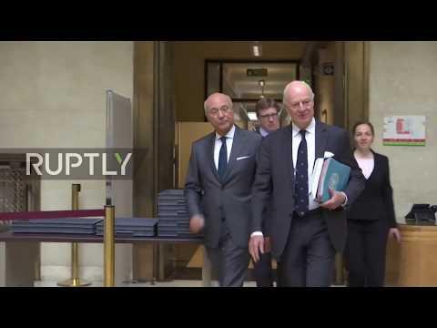 Switzerland: Syria's Jaafari and UN's de Mistura hold talks in Geneva