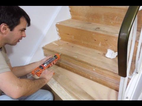 New Treads For Old Stairs Youtube | Installing Hardwood Stairs Over Existing Stairs | Prefinished Stair | Stair Tread Caps | Carpeted Stairs | Wood Flooring | Treads