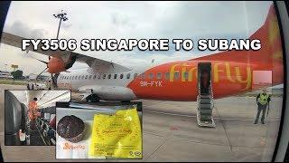 FireFlyz ATR-72-500 flight FY3506 Singapore to Subang 飛螢航空FY3506新加玻飛往梳邦
