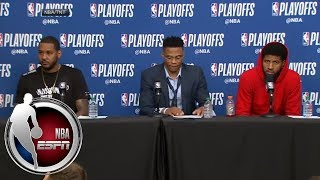[FULL] Carmelo Anthony, Russell Westbrook and Paul George after Game 4 loss to Jazz | NBA on ESPN